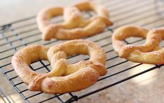 """These are great """"mall"""" pretzels. We make them as sticks instead of pretzel shapes for ease and double the batch so we can freeze them for later. Dough is made in my bread machine..."""