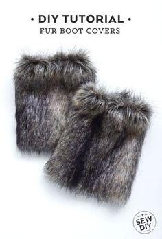 DIY Tutorial – How to Sew Fur Bott Covers | Sew DIY
