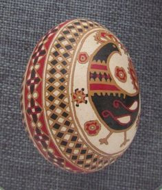 Pysanka, Real Ukrainian Easter Egg,Hen Shell,Etched,Hand Crafted, Traditional F6 #Eggs