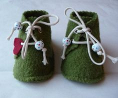 Chaussures en laine bouillie toute douce