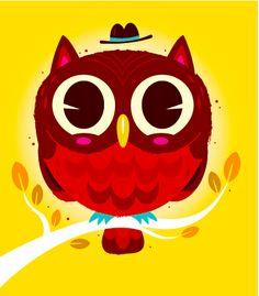 Pretty owl illustration by Linde Design