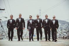 Cool Groomsmen at CA Wedding {IQphoto} - mazelmoments.com