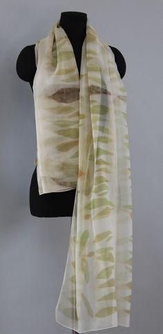 eucalyptus leaves on silk