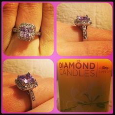 Diamond Candle Rings! So unique!  Which ring will you find? - these would be awesome for birthdays!!