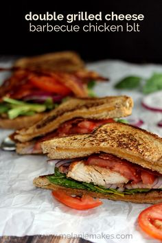 double grilled cheese barbecue chicken blt double grilled cheese ...