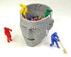 Think! — Nathan Sawaya — The Art of the Brick