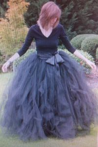extremely full tulle skirt  Would be fun to make! I would look like a cupcake but I would stil wear it!