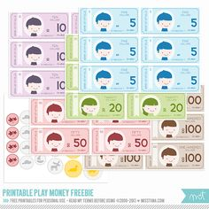 FREE Printables - Play Money | MissTiina.com {Blog}