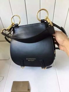 Burberry The Bridle In Leather 40456491 Black 2016     Real Purse 96cf51c6f67f2