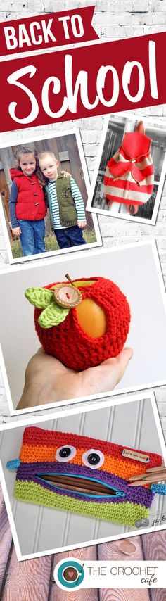 Back to School crochet patterns for students and teachers from www.thecrochetcafe.com