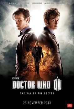 Doctor Who, affiche pour l'épisode du 50ème anniversaire