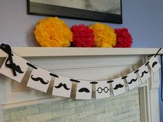 MOUSTACHE Party Banner Mustache Garland by anyoccasionbanners, $18.00