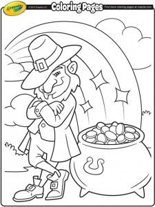 make that pot of gold really shine with this saint patricks day coloring page - Free Printable Pot Of Gold Coloring Pages