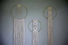 Macrame Wall Hanging 50 Natural White Cotton Rope by BermudaDream More