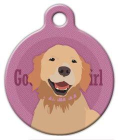 Good Girl Golden Retriever Dog ID Tag, $11.99 on dogtagart.com