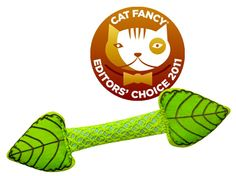 This Fresh Breath Mint Stick from Petstages is filled with sweet smelling mint, which is a cousin to catnip, so most cats really like these. We like to keep their breath fresh, so that's a win win situation!