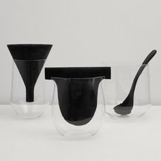 Charcoal inserts purify tap water in these blown-glass containers by Italian designers Formafantasma (+ movie). More »
