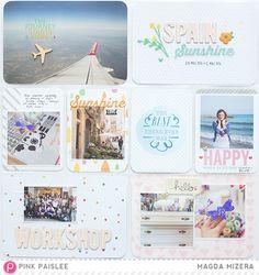 Pocket Pages Magda Mizera @Marguerite Mizera @Julia Richey Paislee, #pinkpaislee #scrapbooking #DIY #hellosunshine