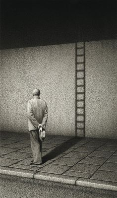 ☆ Man and Ladder :¦: By Artist Quint Buchholz ☆