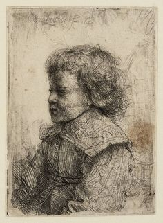 Rembrandt in Teylers Museum: Portret van een jongen (Willem II ? Rembrandt Etchings, Rembrandt Portrait, Rembrandt Drawings, Rembrandt Art, Leiden, Arte Grunge, Dutch Golden Age, Dutch Painters, Les Oeuvres