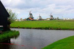 windmills; netherlands; Zaanse Schans;