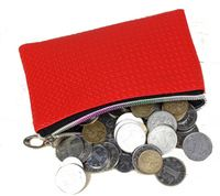 Hot !!! Faux Leather Candy Color Women Coin Purse+8 colors+5pcs/pack