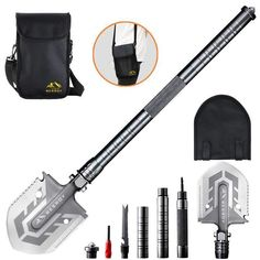 Portable Military Folding Shovel with Tactical Waist Pack & Multi-Tools – Home & Beauty Survival Tools, Camping Survival, Outdoor Survival, Survival Prepping, Survival Supplies, Zombie Survival Gear, Survival Hacks, Outdoor Tools, Backpacking Gear