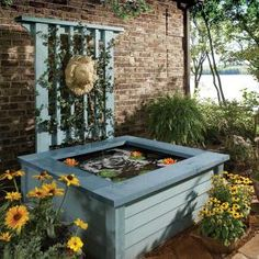 Outdoor Pond Ideas: Pond in a Box - The beauty of a pond without the shovel work.