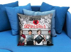 5 SOS Band Pillow Case Pillow Cover Printed 18x18 16x24 20x30 Modern Pillow Case Decorative Throw Pillow Case One Side Printing   These soft pillowcase made of 50% cotton, 50% polyester.  It would be perfect to decorate your home by using our super soft pillow cases on sofa, chair, bench or bed.  Customizable pillow case is both comfortable and durable, improving the quality of your sleep with these comfortable pillow case, take it home now!  Custom Zippered Pillow Cases available in 7…