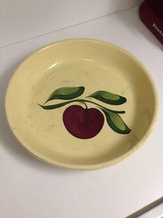 Watt Pottery Pie Plate Apple #33 by thetrendykitchen on Etsy