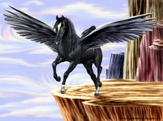 Pegasus This Black Pegasus was created by/is copyrighted to me, Artsieladie/Sharon Donnelly. ALL rights reserved. MY permission must be given for ANY use of this work whatsoever.