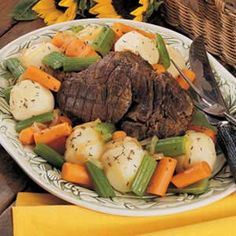Venison Pot Roast with Veggies. Highly rated recipe from Taste of Home.