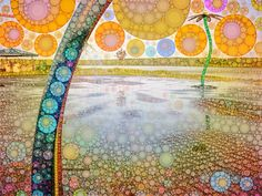 Porcupine Water Park by Michelle LaRiviere #phoneography #ipadart #percolatorapp #digitalart #photobasedart #southporcupine #waterpark