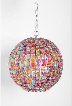 this is really pretty...tacky   ...   my teenage daughter would probably love it       Beaded Pendant Plugged Lamp $49.99