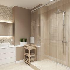 Дизайн интерьера ванной комнаты, душевая