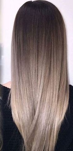 33 trendy ombre hair color ideas of 2019 - Hairstyles Trends Hair Color And Cut, Ombre Hair Color, Hair Color Balayage, Hair Highlights, Ash Blonde Balayage, Chunky Highlights, Brown Blonde Hair, Light Brunette Hair, Brunette Color