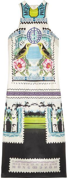 Mary Katrantzou Rodizio printed silk-twill dress on shopstyle.com.au