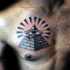 What does pyramid tattoo mean? We have pyramid tattoo ideas, designs, symbolism and we explain the meaning behind the tattoo. Full Leg Tattoos, Little Tattoos, Love Tattoos, New Tattoos, Tattoos For Guys, Tatoos, Egyptian Eye Tattoos, Egyptian Tattoo Sleeve, Egypt Tattoo