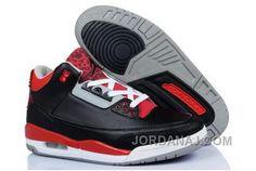 newest 16ce7 22c88 Discount Nike Air Jordan Iii 3 Robber Mens Shoes Black Red