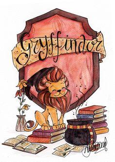 Gryffindor, the best house of Hogwarts Fanart Harry Potter, Images Harry Potter, Arte Do Harry Potter, Cute Harry Potter, Harry Potter Drawings, Yer A Wizard Harry, Harry Potter Wallpaper, Harry Potter Houses, Harry Potter Universal