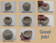 Clay art for kids ideas pinch pots 50 Ideas Clay Pinch Pots, Ceramic Pinch Pots, Ceramic Clay, Ceramic Bowls, Clay Projects For Kids, Kids Clay, Clay Art For Kids, Ceramic Techniques, Pottery Techniques