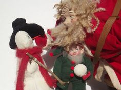 Handmade Santa Claus~SnowMan & Elf By Kim Sweet~Kim's Klaus