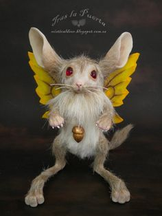 Fairy Pet 1#. Gerbil. Fantasy Art by Silver Berry. Ooak Art Doll One of a Kind Fantasy Sculpture