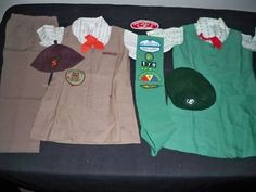 1970's Brownie and Girl Scout Uniforms w/Sash...but I started out as a Bluebird ~ before you became a Brownie.