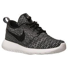 Women's Nike Roshe One Flyknit Casual Shoes - 704927 006   Finish Line   Dark Grey/Black/Wolf Grey