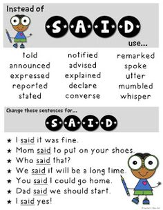 Word Choice Posters and a Free Worksheet