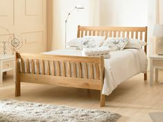 Emporia Richmond Double Solid Oak Bed Frame by Emporia Beds Oak Bed Frame, Wooden Bed Frames, Wooden Beds, Solid Oak Beds, Super King Size Bed, Home Bedroom, Bedroom Ideas, Bedrooms, Bed Base