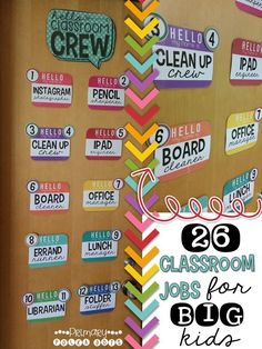 Classroom Jobs {for BIG KIDS!}