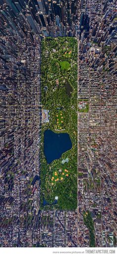 Aerial view of Central Park - I'm not sure I ever had any idea what it was actually like!