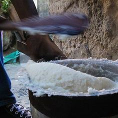 Traditional South African food pap pronounced (pop). I was able to learn how to make this while on a mission trip there.